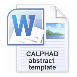 CALPHAD 2020 abstract template
