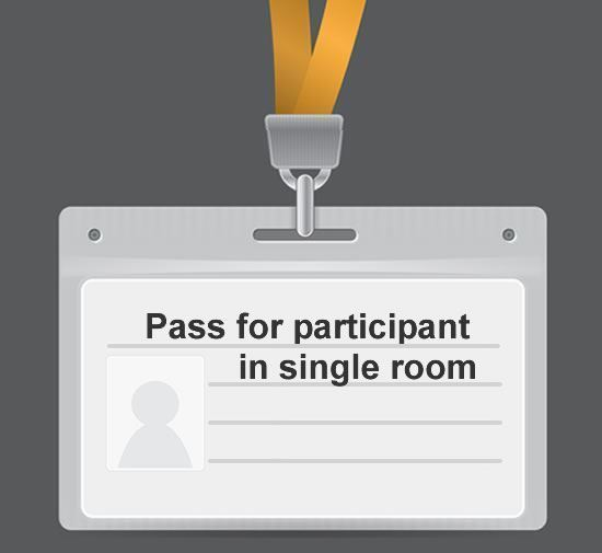 Delegate pass for participant for CALPHAD 2020 in a single room