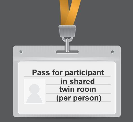 Participant in shared twin room  (cost per person)
