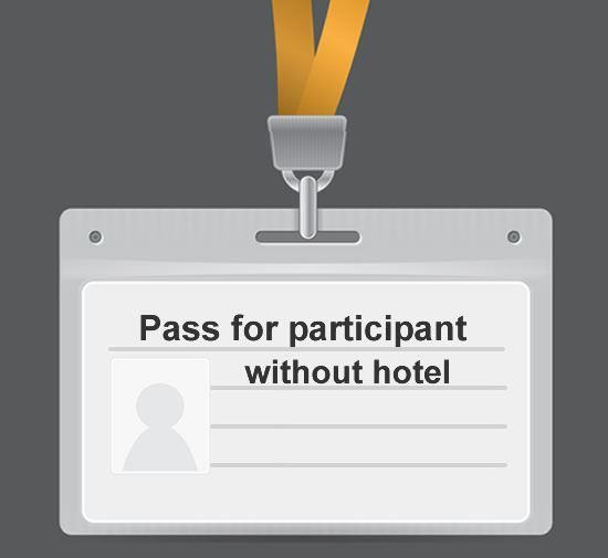Delegate pass for Participant for CALPHAD conference without hotel.