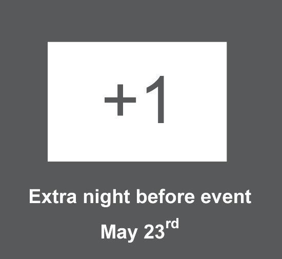 Extra night before event, i.e. 23rd to 24th  (cost per person)