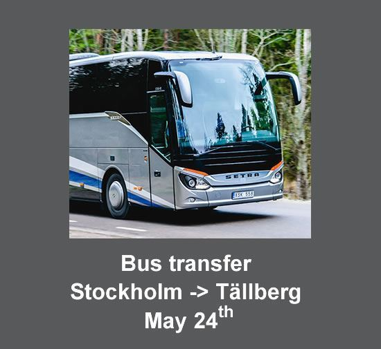 Bus transfer from Stockholm to Tällberg on the 24th  (cost per person)