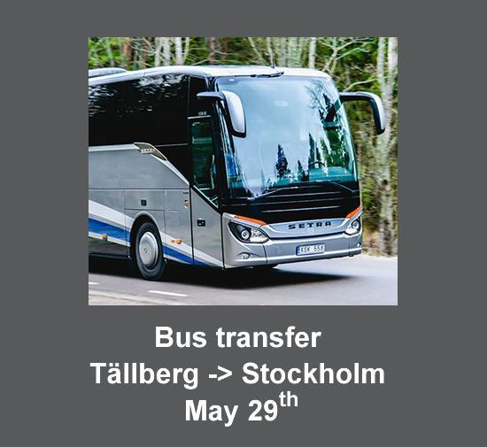 Bus transfer from Tällberg to Stockholm on the 29th  (cost per person)